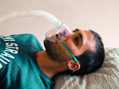 physio treating respiratory condition